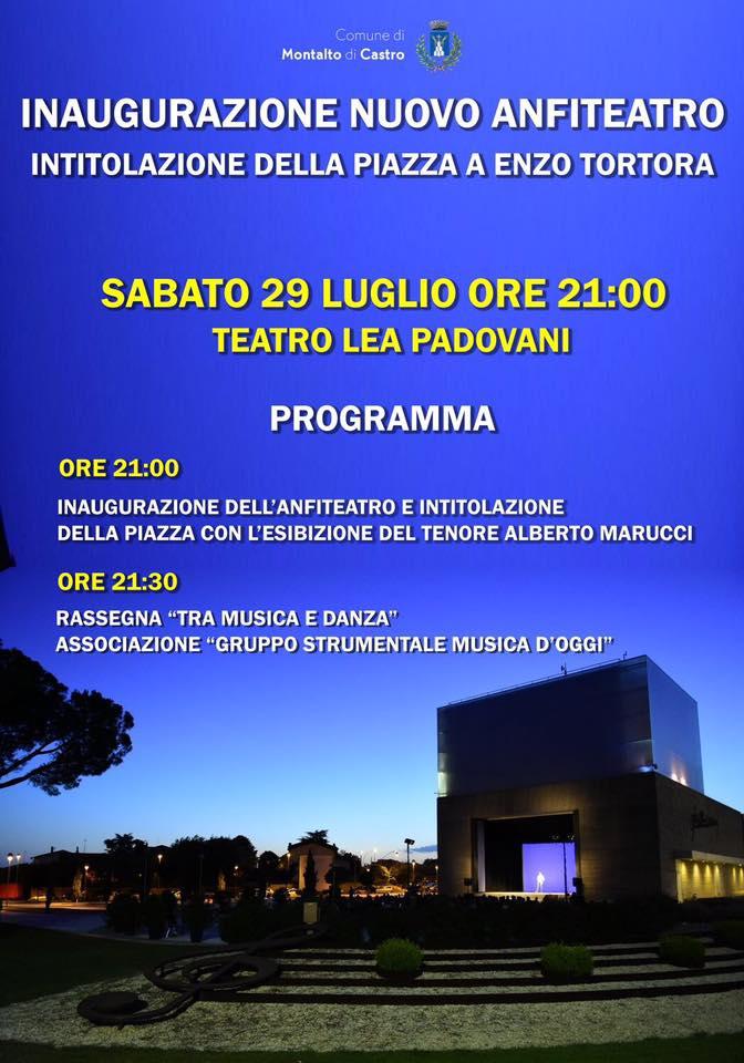Inaugurazione anfiteatro Teatro Lea Padovani