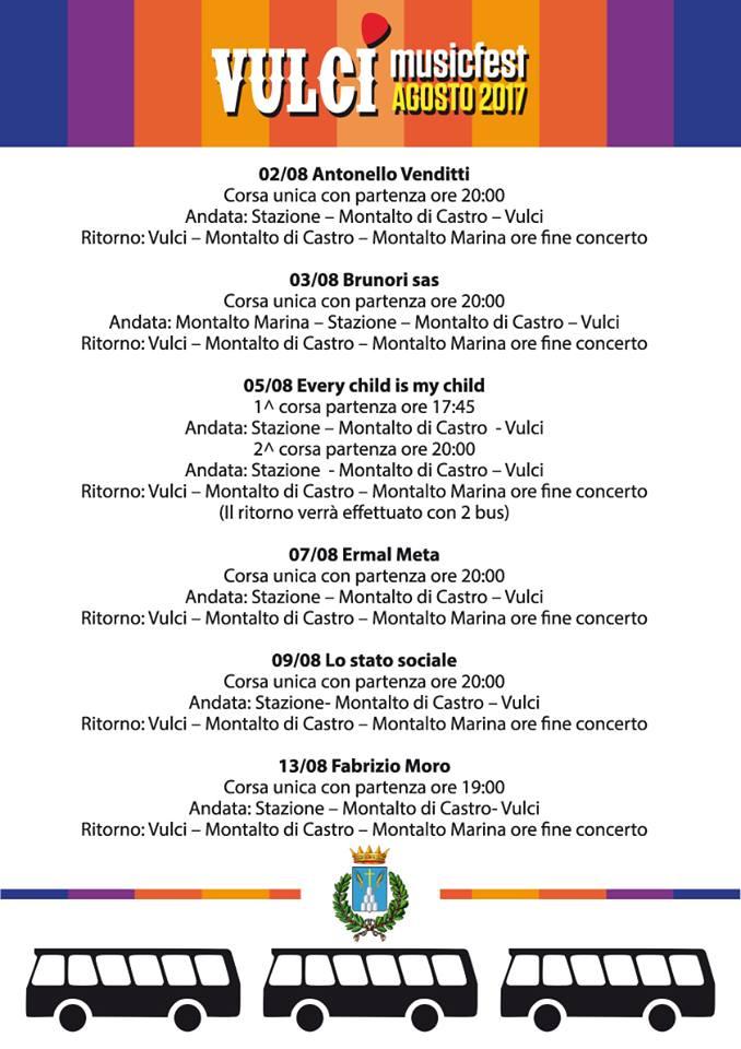 Navette Vulci Music Fest