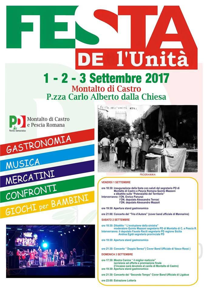 Festa de l'Unità 2017 Locandina